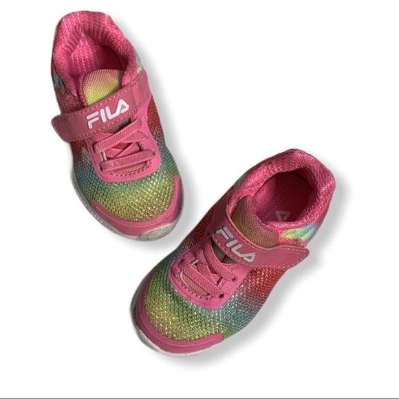 Fila Pink Pastel Rainbow Colored Kids Sneakers 6